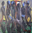 Óleo sobre lienzo  122 x 122 cm  1998