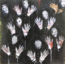 Óleo sobre tabla y tela 122 x 122 cm 1990