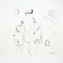 Tinta, lapiz sobre papel 25 x 25 cm 2005