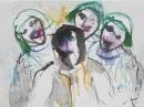 Tinta-carbón-acuarela 24 x 32 cm 2004-2005