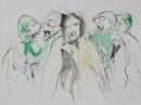 Tinta-carbón-acuarela 25 x 23 cm 2055-2006