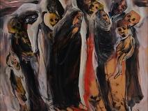 Öl auf Holz 122 x 122 cm  1999