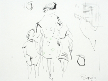 Tinte, bleistift auf papier 25 x 25 cm 2005