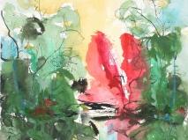 Tinte-aquarell 25,5 x 25,5 cm